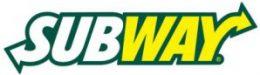 Subway yellow color type logo deign