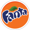 Fanta orange color type logo design
