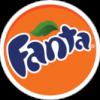 Fanta orange color type logo design