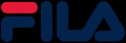 Fila black color type logo design