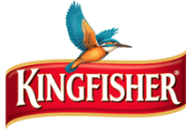 Kingfisher red color type logo