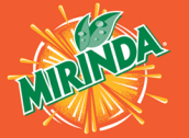 Mirinda orange color type logo design