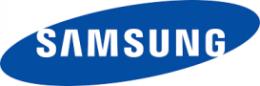 Samsung blue color type logo design